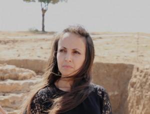 L'auteure sur le site de Petra