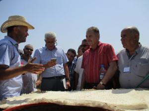 15_ La délégation recevant les explications de Pr Boukhenouf sur l'inscription de Petra.